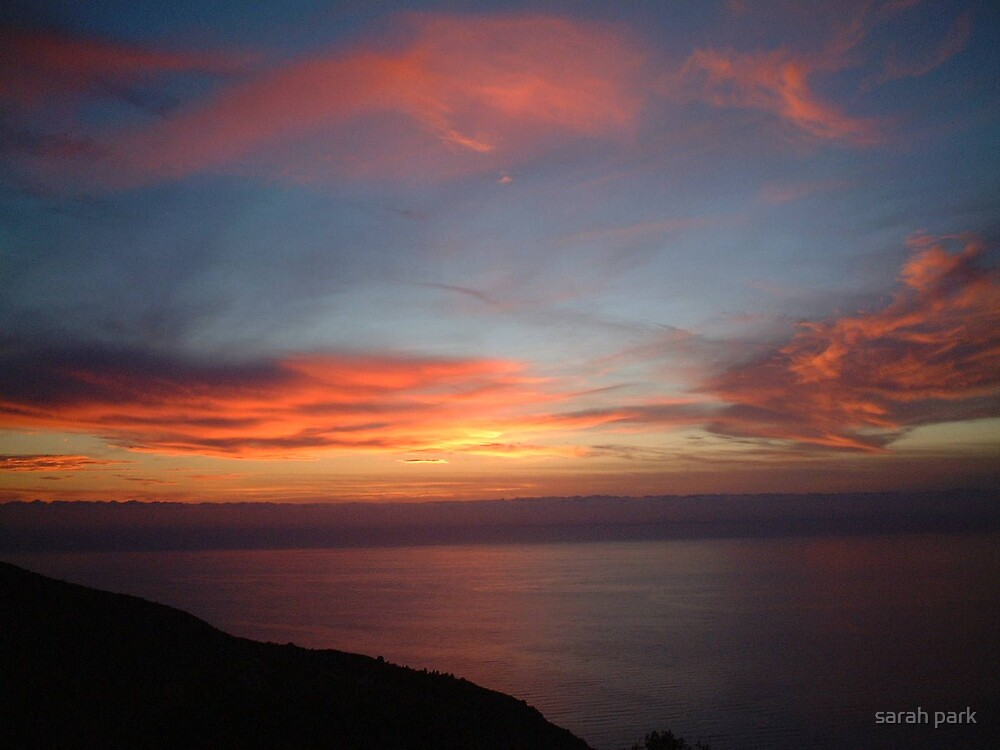 Sunset over Lefkada by sarahcro123