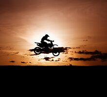Motor X silhouette by Viv van der Holst
