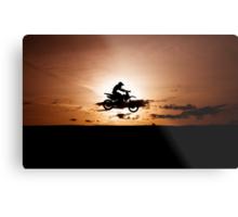 Motor X silhouette Metal Print