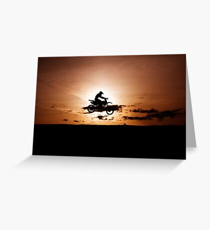 Motor X silhouette Greeting Card