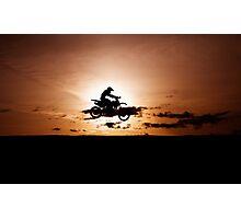 Motor X silhouette Photographic Print