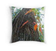 Oak Tree in Fall Throw Pillow