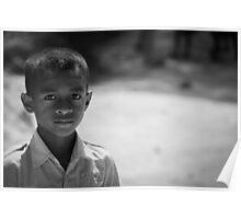 School boy stare Poster