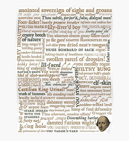 Shakespeare's Insults Collection - Revised Edition (by incognita) Poster