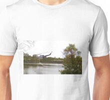 Bushfire Helicopter at Glenbrook Lagoon Unisex T-Shirt