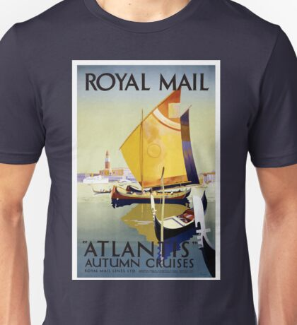 Vintage Royal Mail Venice Italy Atlantis Cruise Unisex T-Shirt