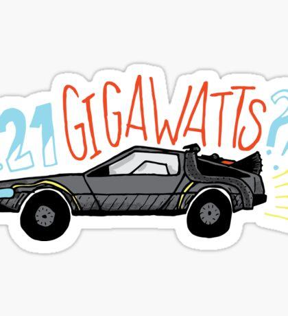1.21 GIGAWATTS?! Sticker