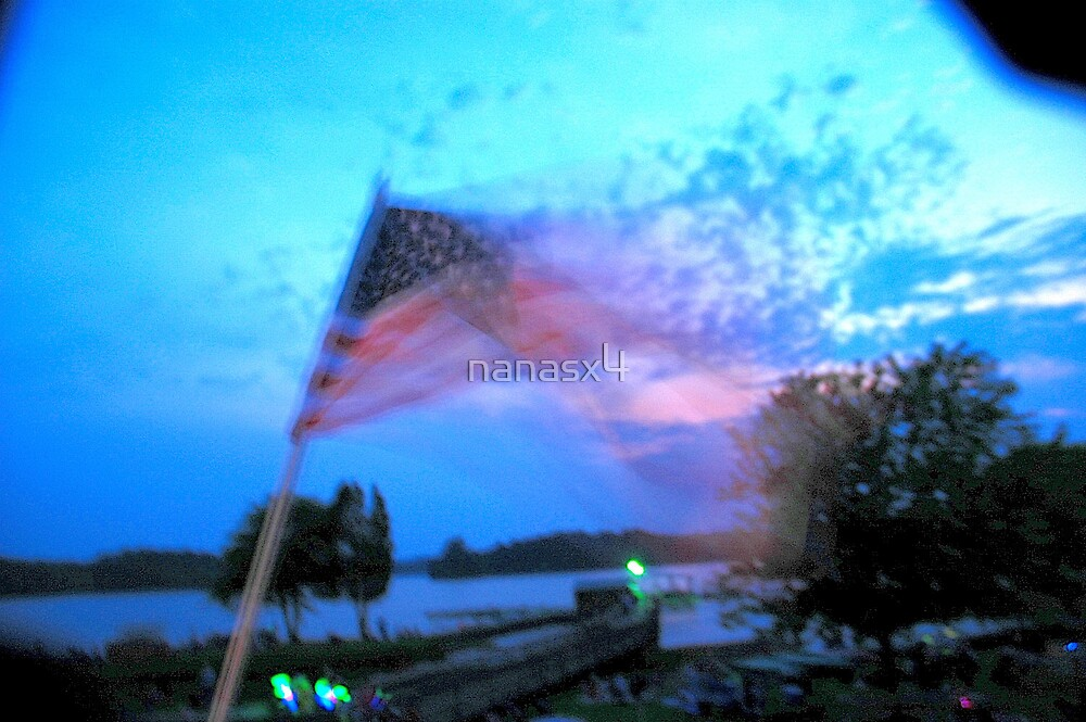 Blurry flag  by nanasx4