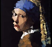 Low-Poly Girl with The Pearl Earring by John-Michael Baldy
