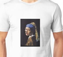 Low-Poly Girl with The Pearl Earring Unisex T-Shirt