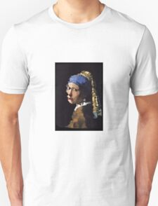 Low-Poly Girl with The Pearl Earring T-Shirt