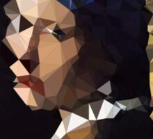 Low-Poly Girl with The Pearl Earring Sticker