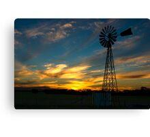 Sunset near Geranium, South Australia Canvas Print