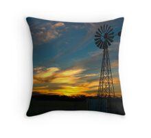 Sunset near Geranium, South Australia Throw Pillow