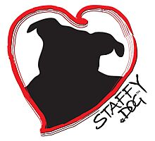Staffy Dog in My Heart Photographic Print