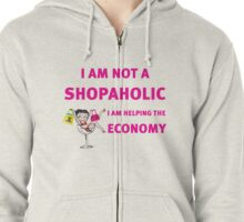 betty is not a shopaholic Zipped Hoodie