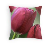 Kissing tulips Throw Pillow