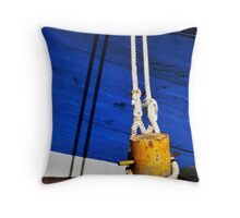Moored Boat Throw Pillow