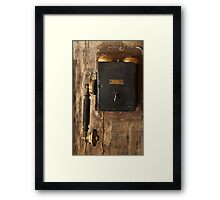 One Ringy Dingy Framed Print
