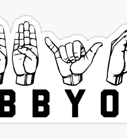 BBYO ASL stickers Sticker