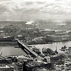 Vintage aerial photograph of Darling Harbour, Sydney circa 1969 by Geoff46