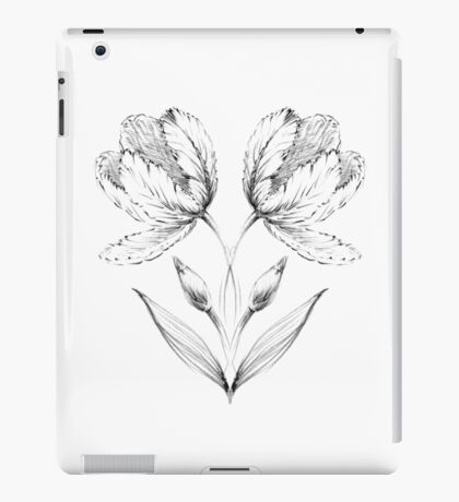 Tulips. Symmetrical pattern. iPad Case/Skin