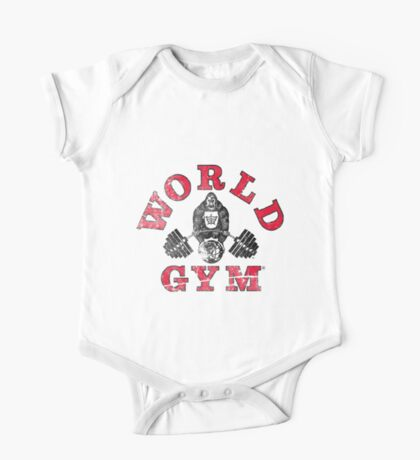 Gorilla World Gym - distressed effect One Piece - Short Sleeve