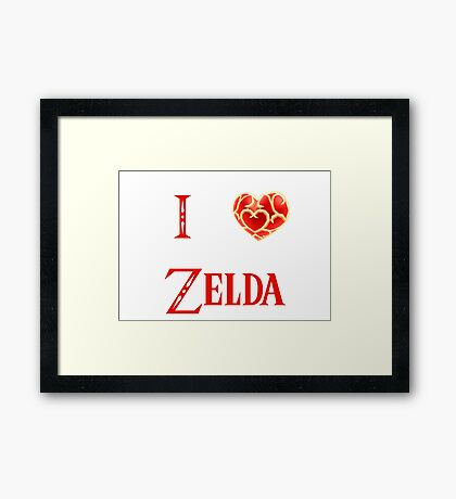 I Love Zelda ( skyword sword ) Framed Print