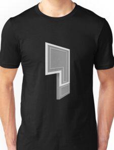 Glitch Homes Wallpaper grey molding left divide Unisex T-Shirt