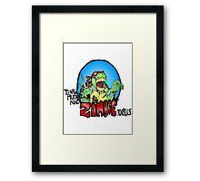 Zombie Teenage Mutant Ninja Turtle Framed Print