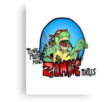 Zombie Teenage Mutant Ninja Turtle Canvas Print