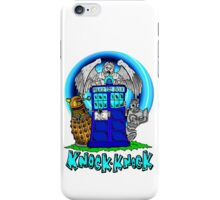 Doctor Who Knock Knock on the Tardis iPhone Case/Skin