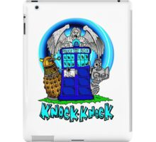 Doctor Who Knock Knock on the Tardis iPad Case/Skin