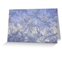 Frosted glass Greeting Card