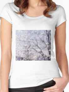 Frosted glass 3 Women's Fitted Scoop T-Shirt