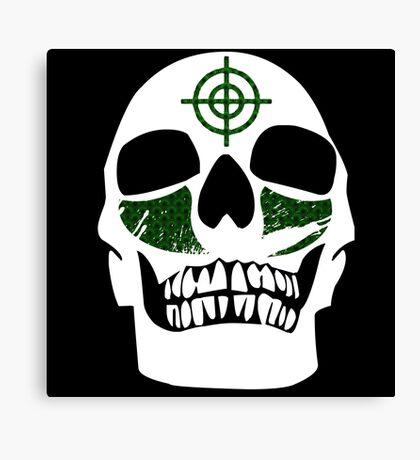Skull Paint // GHD Canvas Print