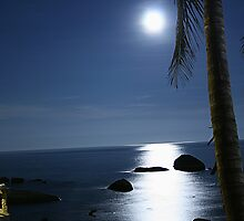 Moon light over Ko Samui by caladarn