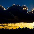 Dramatic cloud over North Sydney skyline by Sheila  Smart