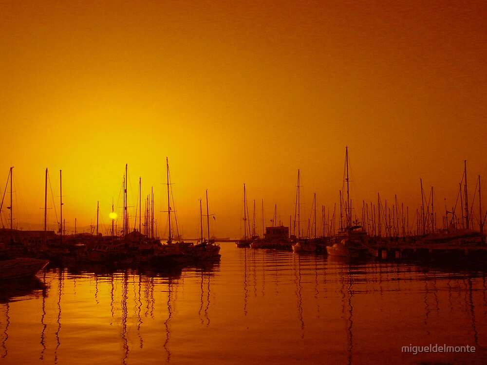Marina Sunset by migueldelmonte