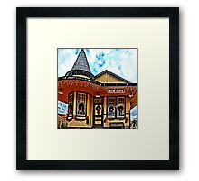 Christmas at New Hope Station Framed Print