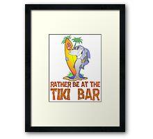 Tiki Bar Shark Framed Print