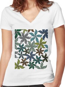 beautiful flower Women's Fitted V-Neck T-Shirt