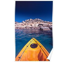 kayak over coral - Nth Qld Poster