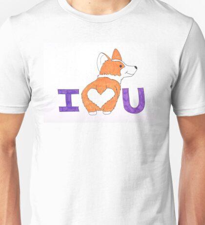 Corgi Butt Love You Unisex T-Shirt