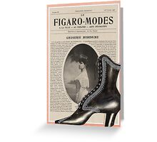 Figaro Modes Collage Greeting Card