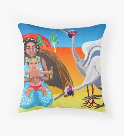 Outback Nativity Throw Pillow