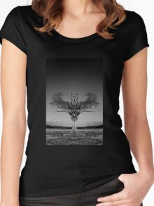 The Rihanna Tree Symmetry Women's Fitted Scoop T-Shirt