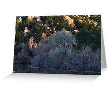 Cottonwood Dawn, Prescott Lake, Prescott, AZ Greeting Card