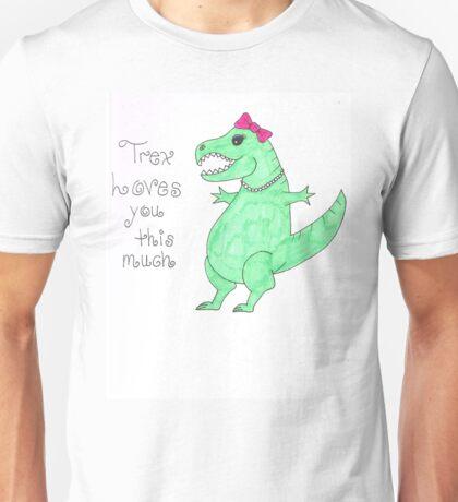 Lady T-Rex Loves you Unisex T-Shirt