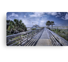 A Boardwalk at St. Andrews Canvas Print